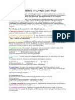 Essential Elements of a Valid Contract Model
