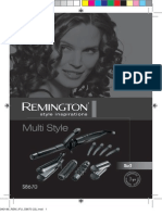 Remington Glamour Multi Styler Kit S8670 manual