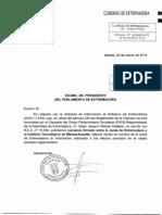 Convenio MITEF Gobierno de Extremadura