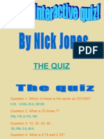 Simple Maths Quiz