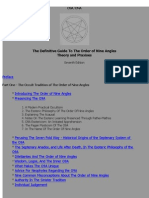 The Definitive Guide To The Order of Nine Angles