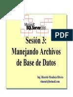Cap III. Manejando Archivos de Base de Datos