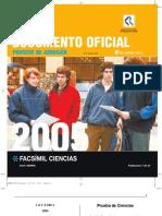 PSU facsimil ciencias 2005