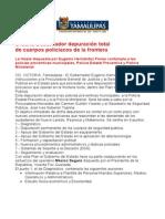 com0208, 150605 Eugenio Hernández Flores ordena depuración total de cuerpos policiacos de la frontera.
