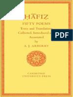 Fifty Poems of Hafiz - Arthur J. Arberry