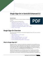 SonicOS 5.5 Single Sign on Feature Module