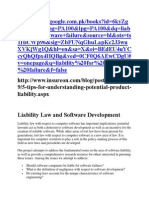 Liability Law and Software Development