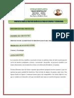 MINISTERIO DE EDUCACIÓN.- PROYECTO AREA CIENTIFICA 2 DE OCT.