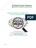 Caribbean Conference on Strategic Human Resource Management 2014 - Trinidad