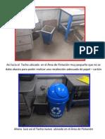 Implementación de tachos RRSS papel carton (Planta Concentradora)
