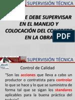 Supervision Tecnica 2014-2 Lo Que Se Debe Supervisar Del Concreto en Obra