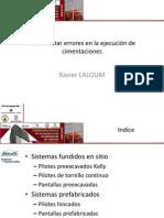 Supervision Tecnica 2014-3 Supervision en La Ejecucion de Cimentaciones
