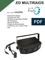 Manual Mala Sequencial 28 Programas com Lente - Luz de Prata