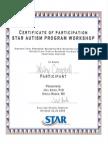 stars training certificate