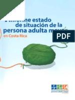 I informe estado de situación de la persona adulta mayor en Costa Rica
