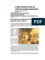 Desarrollo histórico de la política cultural gubernamental