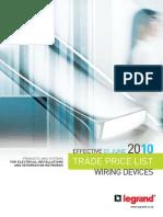 Legrand Wiring Devices Price List