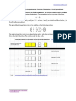 Gaussian Elimination Spreadsheet