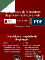 Comparativo de linguagens de programação para web