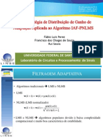 Nova Estratégia de Distribição de Ganhos para o Algoritmo IAF-PNLMS