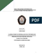 Laporan Praktikum Batuan Beku Non Fragmental