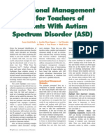 instructional management tips for teachers of students with autism spectrum disorder  asd