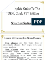 TOEFL - Structure 6.0