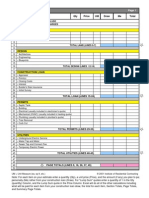 Cost Estimating Worksheet