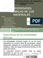 Propiedades térmicas de los materiales (1)