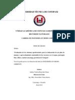 """""""Evaluación de los sistemas agroforestales para la elaboración de un plan de"""