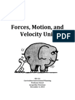 forces motion and velocoty unit