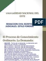 Unidad I Del Proceso de Conocimiento Ordinario