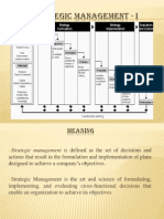 BBA Strategic Management - I