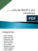 Historia de Word y Sus Versiones