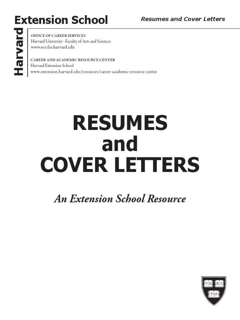 Harvard Resume Cover Letter | Résumé | Strategic Management
