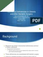 nutritional deficiencies after bariatric
