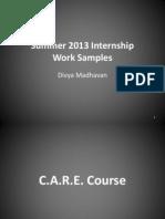 MadhavanD_SummerInternship_WorkSamples
