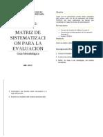4 - Guia Taller 02 y 03  - Matriz de Estrategias de Evaluación