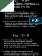 LIVRO DIDÁTICO - PAG 121-122 - DROGAS NA ADOSLESCÊNCIA - CORREÇÃO