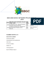 Ieee 2009 Adhoc Network Project Titles - Java