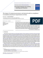 KelompokThe impact of corporate governance and external audit on compliance to mandatory disclosure requirements in China