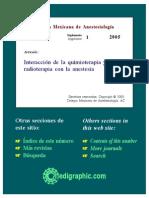 Anestesia y Quimio Mexicano