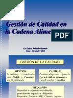 Gestion de Calidad en La Cadena Alimentaria