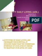 Activity Daily Living (Adl) Slides