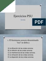 Ejercicios PSU Sonido