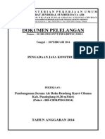 Dokumen Pengadaan Pembangunan Sarana Air Baku Bendung Karet Cibama Kab. Pandeglang (0,20 m3det)