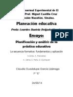 Ensayo, Planificacion y Analisis de La Practica Educativa