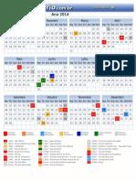 Calendario Dourados Ms 2014