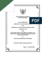 Audit of Environmental Impact Control in General Mining