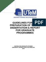utem thesis guideline